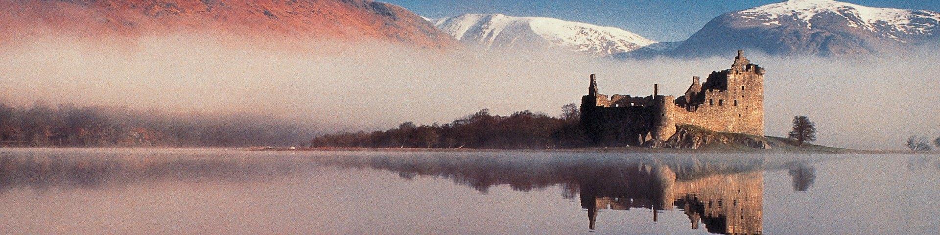 Kilchurn Castle by Loch Awe, Argyll in winter