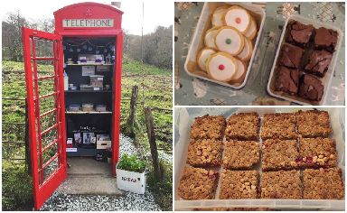 Cakes in the Call Box, Cladich, Loch Awe, The Blue Cottage, Ardbrecknish