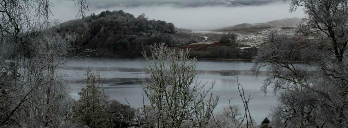 loch awe, argyll. taychreggan, winter break