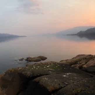 Loch Fyne on a misty morning