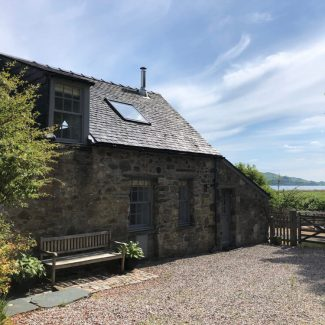 The Stable Cottage has a fantastic view towards Loch Fyne