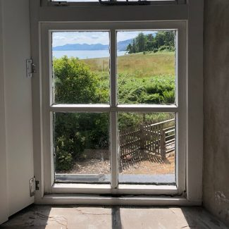 The Stable Cottage offers a lovely view out to Loch Fyne, just a short walk away.