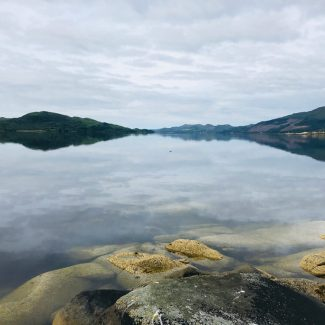 Even on a cloudy day Loch Fyne has a very special majesty and tranquility